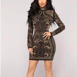 Diamond embezzled dress